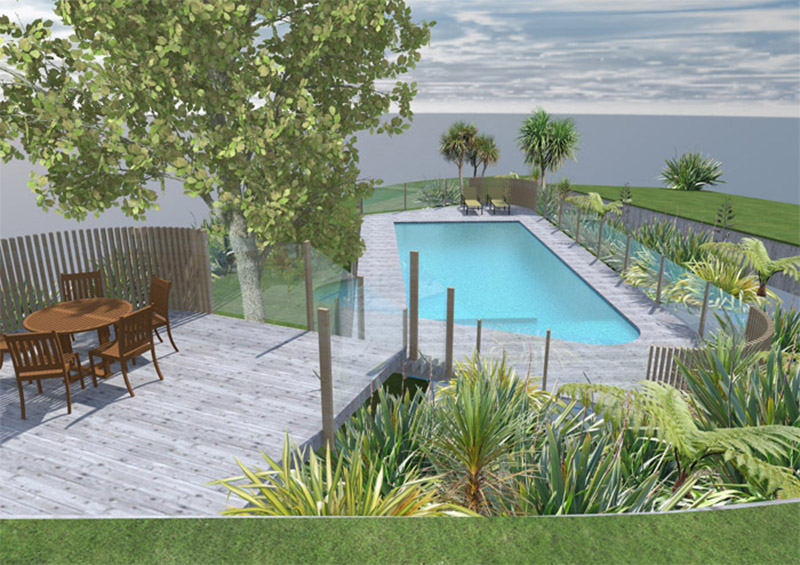 Plans for swimming pool and landscape projects for Pool design nz