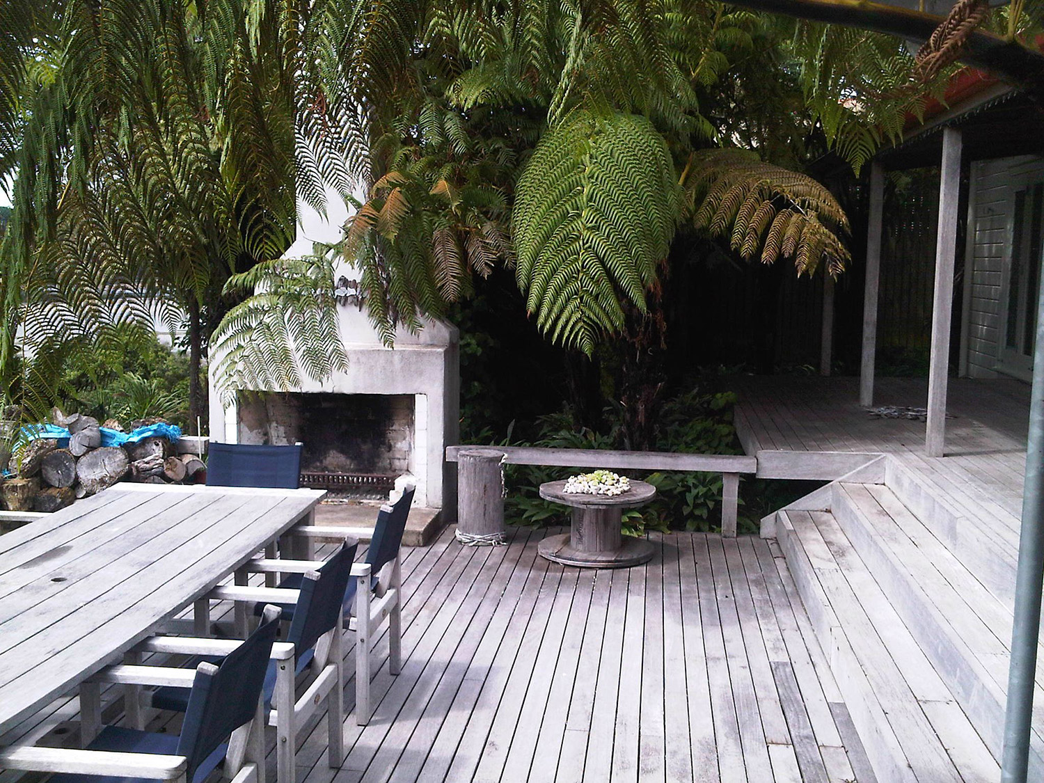 Decking and landscape with beach theme