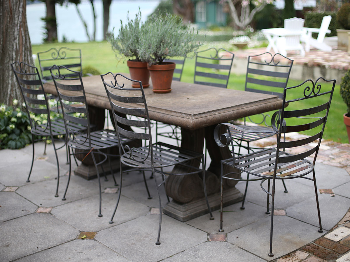 classic outdoor dining setting