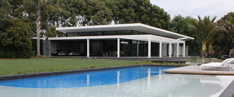 Contemporary Pool Design in Auckland with Pool Beach & Swim Lane